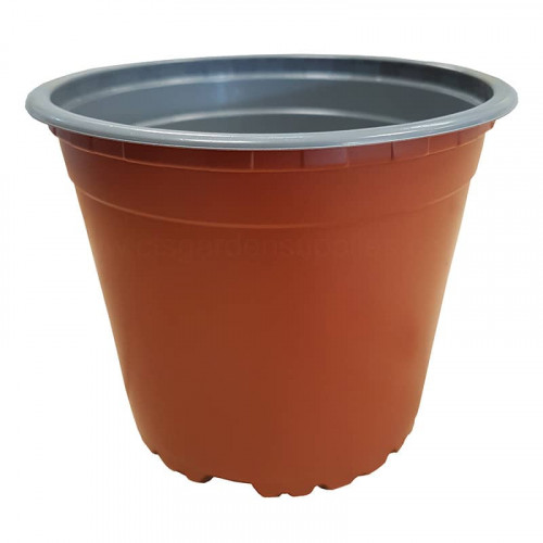 13cm 5 Degree Round Terracotta Recyclable Plastic Plant Pot x 103