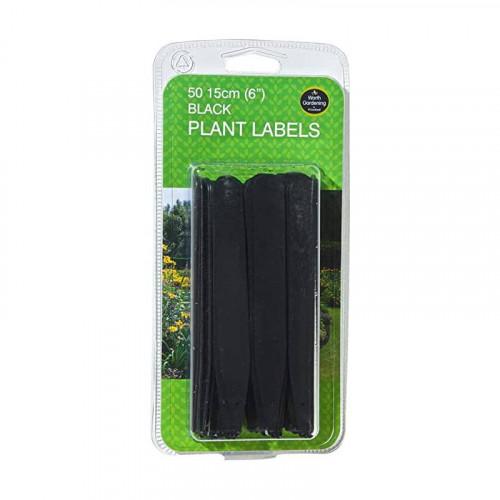 15cm Black Plant Labels - 50 Pack