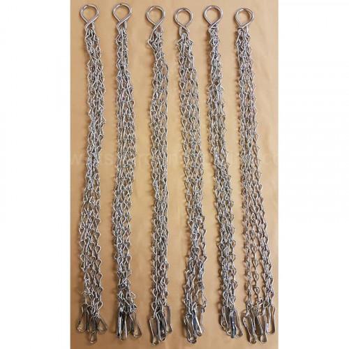 "4 Leg 18-20"" Hanging Basket Chains x 6"