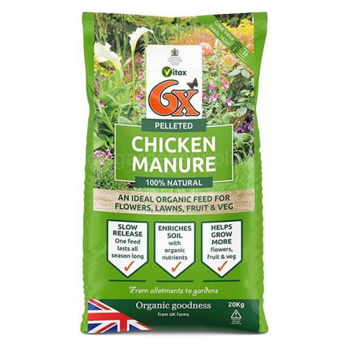 6 x Pelleted Chicken Fertiliser - 20kg