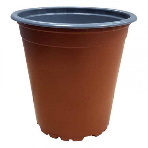 9cm 5 Degree Round Terracotta Recyclable Plastic Plant Pot x 108