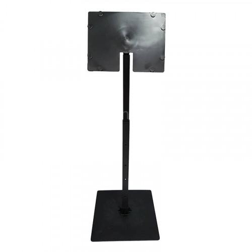 Black 8 Inch x 6 Inch Angled Telescopic Adjustable Card Holder x 25