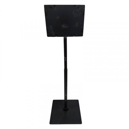 Black 8 Inch x 6 Inch Flat Telescopic Adjustable Card Holder