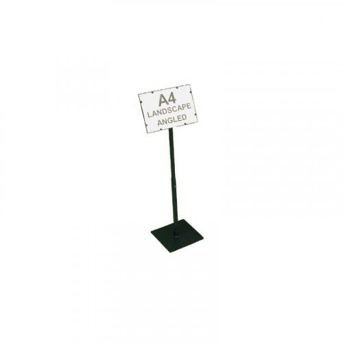 Black A4 Landscape Angled Telescopic Adjustable Card Holder
