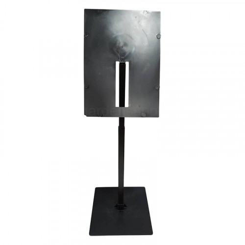 Black A4 Portrait Angled Telescopic Adjustable Card Holder
