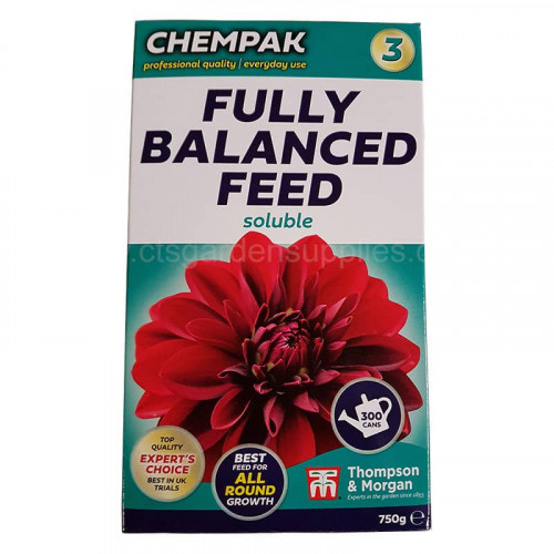 Chempak No 3 Fully Balanced Soluble Plant Food - 750g