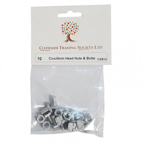 CTS Cruciform Head Nuts and Bolts - Pack of 10
