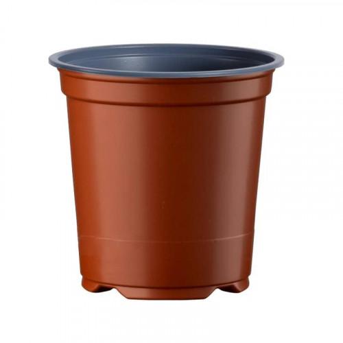 Desch 5 Degree Round Terracotta Plastic Plant Pot 9cm x 7cm - 0.3L