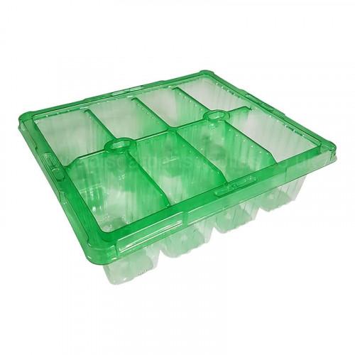 Desch Green 8 Cell Bedding Tray - 0.098L per cell x 100