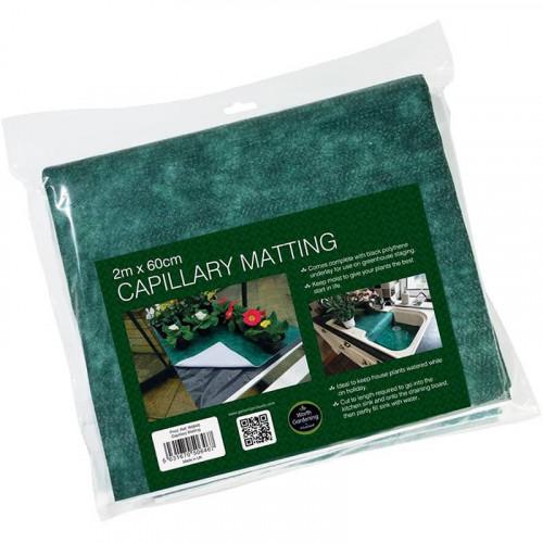 Garland Capillary Matting 2m x 60cm with a Black Polythene Underlay