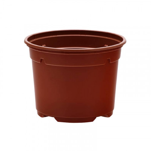 Soparco 5 Degree Round Terracotta Plastic Plant Pot 13cm x 10cm - 0.9L