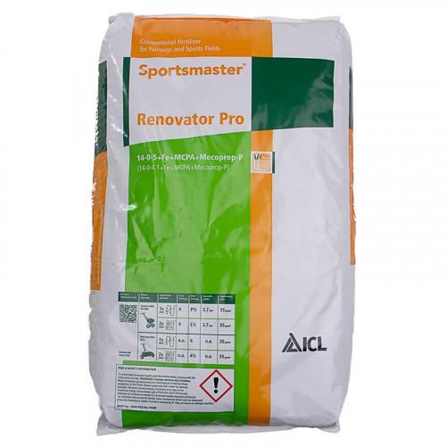Sportsmaster Renovator Pro 14-0-5 Feed Weed and Moss Killer Fertiliser - 25kg