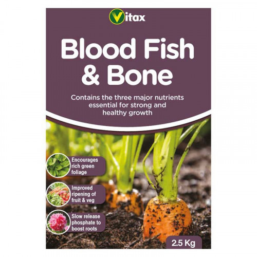 Vitax Blood Fish & Bone Plant Fertiliser - 2.5kg